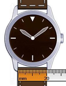 1dee4f89c92 For at din nye urrem skal passe på dit ur, så skal du måle bredden hvor  urremmen skal sidde på dit ur. Du kan enten måle den gamle urrem, men  sikrest er ...